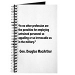 MacArthur Untrained Personnel Quote Journal