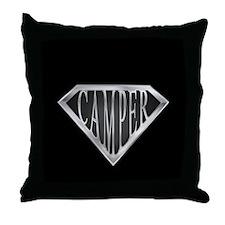 SuperCamper(metal) Throw Pillow