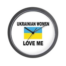 Ukrainian Love Me Wall Clock