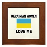 Ukrainian Love Me Framed Tile
