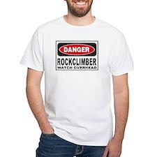 Rockclimber Danger Sign Shirt
