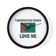 Turkmenistani Love Me Wall Clock