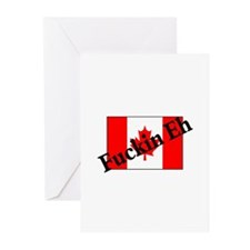 Fuckin Eh (Canadian Flag) Greeting Cards (Pk of 10