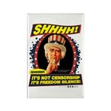 Freedom Silence Rectangle Magnet (100 pack)