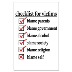 Checklist For Victims Posters