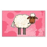 Wild and Woolly (no txt) Rectangle Sticker 50 pk)