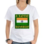 I Love Bombay Women's V-Neck T-Shirt
