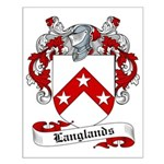 Langlands Family Crest Small Poster