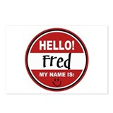 Hello My Name is Fred Postcards (Package of 8)