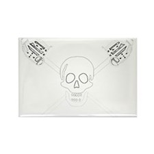 Highland Jolly Roger Rectangle Magnet