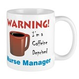 """Caffeine Deprived Manager"" On Back of Mug"