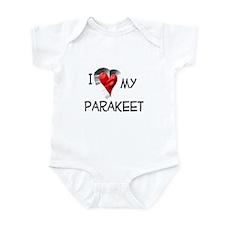 I Love My Parakeet Infant Bodysuit