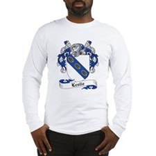 Leslie Family Crest Long Sleeve T-Shirt