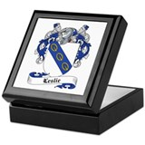 Leslie Family Crest Keepsake Box