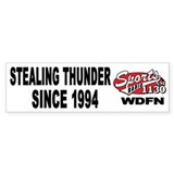 "WDFN ""Stealing"" White Bumper Sticker"
