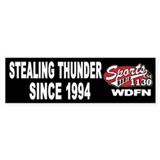 "WDFN ""Stealing"" Black Bumper Sticker"