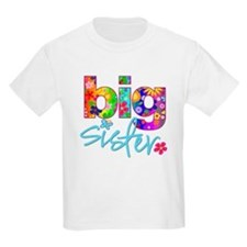 big sister t-shirt flower T-Shirt