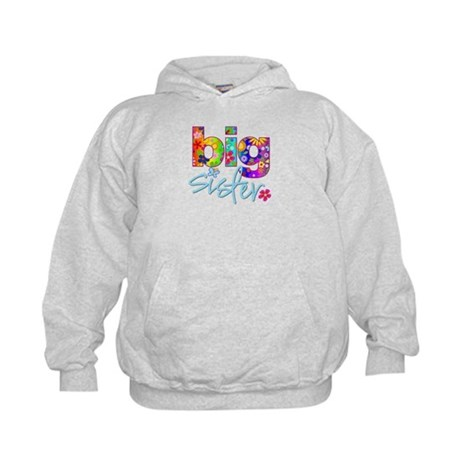 big sister t-shirt flower Kids Hoodie