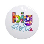 big sister t-shirt flower Ornament (Round)