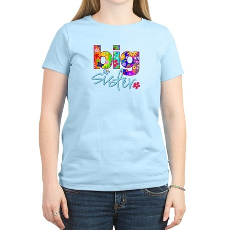 ADULT SIZES big sister bright flower Women's Light