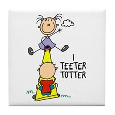 I Teeter Totter Tile Coaster