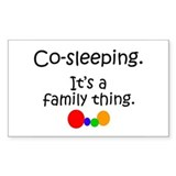 Co-sleeping family Rectangle Decal