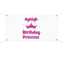 1st Birthday Princess Ryleigh Banner