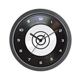 Black Classic Vinyl Wall Clock