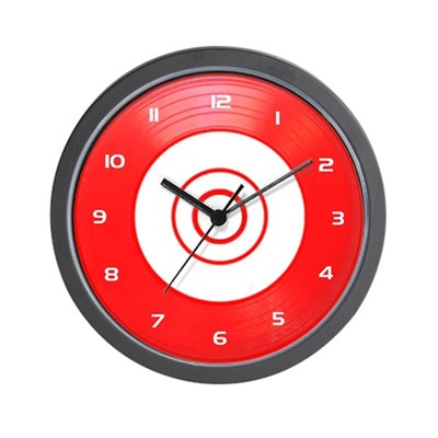 Red Classic Vinyl Wall Clock