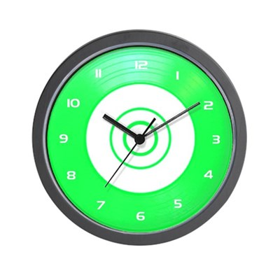 Green Classic Vinyl Wall Clock