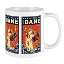 Obey the Great Dane! Coffee Small Mug