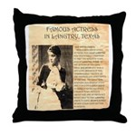 Lilly Langtry Throw Pillow