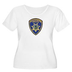 Pleasanton Police Women's Plus Size Scoop Neck T-S