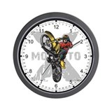Motorcross Stunt Wall Clock