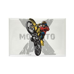 Motorcross Stunt Rectangle Magnet (10 pack)