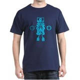 Cassettes Robot. Cool Blue T-Shirt
