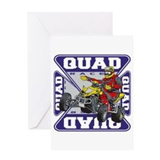 Quad Racer Greeting Card