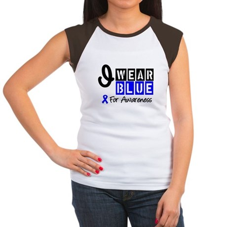 Blue Ribbon Awareness Women's Cap Sleeve T-Shirt
