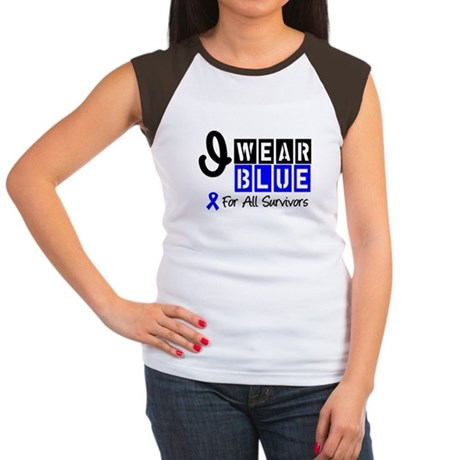 Blue Ribbon Survivors Women's Cap Sleeve T-Shirt