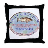 Gulf Grouper Throw Pillow