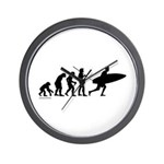 Surfer Evolution Wall Clock