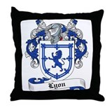 Lyon Family Crest Throw Pillow