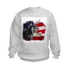Dog, Flag, and Country Sweatshirt