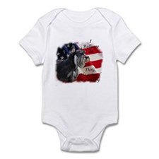 Dog, Flag, and Country Infant Bodysuit
