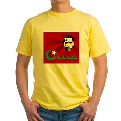 Anti-Obama: Change Yellow T-Shirt