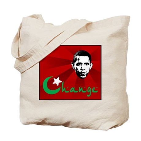 Anti-Obama: Change Tote Bag