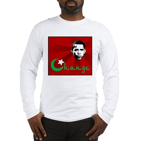 Anti-Obama: Change Long Sleeve T-Shirt
