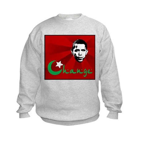 Anti-Obama: Change Kids Sweatshirt
