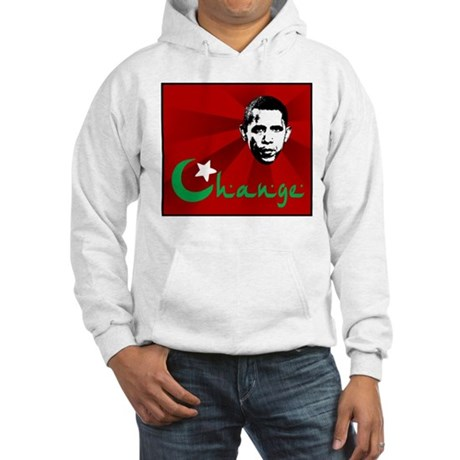 Anti-Obama: Change Hooded Sweatshirt