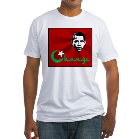 Anti-Obama: Change Fitted T-Shirt